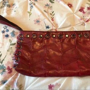 The Limited Red Clutch